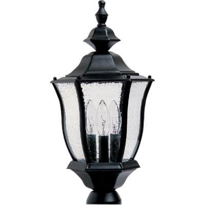 Maxim Lighting 1015BK Madrona - Three Light Outdoor Pole/Post Lantern