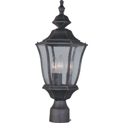 Maxim Lighting 1015RP Madrona - Three Light Outdoor Pole/Post Lantern