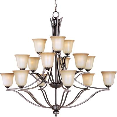 Maxim Lighting 10178WSOI Madera - Fifteen Light 3-Tier Chandelier