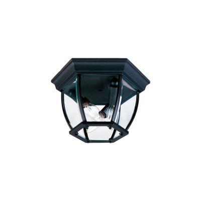 Maxim Lighting 1029BK Three Light Outdoor Flush Mount