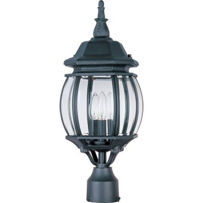 Maxim Lighting 1035BK Crown Hill - Three Light Outdoor Post Mount