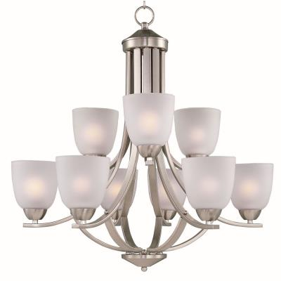 Maxim Lighting 11226FTSN Axis - Nine Light 2-Tier Chandelier
