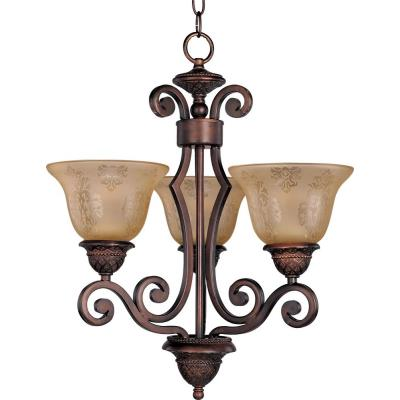 Maxim Lighting 11235SAOI Symphony - Three Light Chandelier