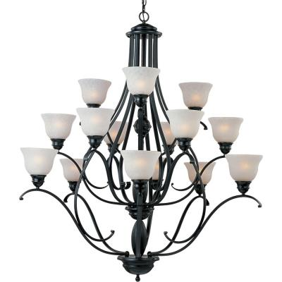Maxim Lighting 11809ICBK Linda - Fifteen Light 3-Tier Chandelier