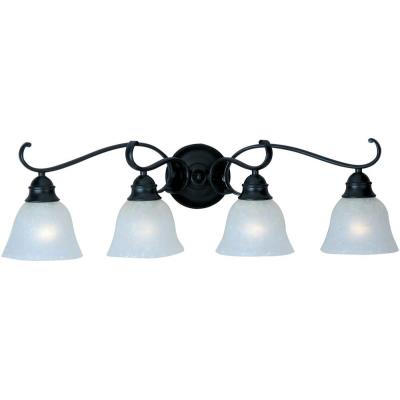 Maxim Lighting 11811ICBK Linda - Four Light Bath Vanity