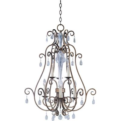 Maxim Lighting 12029AD Hampton - Six Light Entry Foyer Pendant