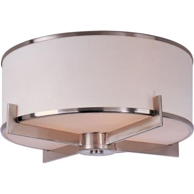 Maxim Lighting 12050WTSN Nexus - Three Light Flush Mount