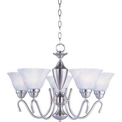 Maxim Lighting 12063MRSN Newport - Five Light Chandelier