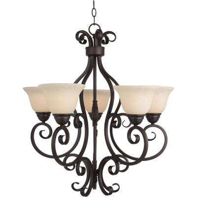 Maxim Lighting 12205FIOI Manor - Five Light Chandelier
