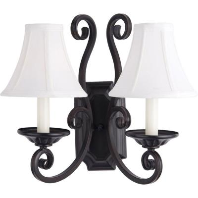 Maxim Lighting 12218OI/SHD123 Manor - Two Light Wall Sconce