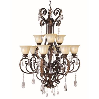 Maxim Lighting 13566CFAF Augusta - Nine Light 2-Tier Chandelier