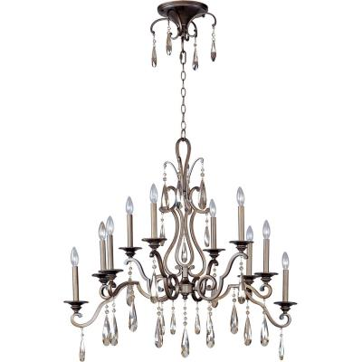 Maxim Lighting 14307HR Chic - Ten Light 2-Tier Chandelier