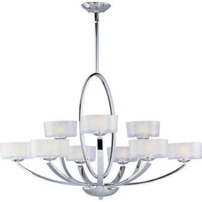 Maxim Lighting 19046FTPC Elle - Nine Light 2-Tier Chandelier
