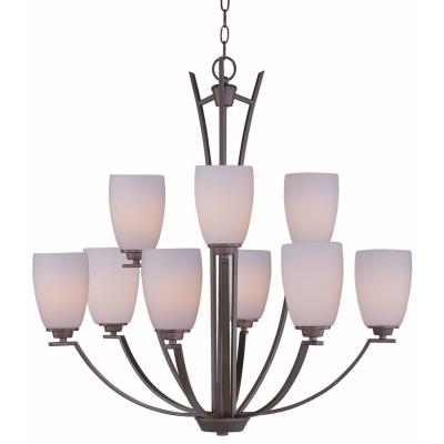 Maxim Lighting 20026SWOI Rocco - Nine Light 2-Tier Chandelier