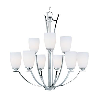Maxim Lighting 20026SWPC Rocco - Nine Light 2-Tier Chandelier