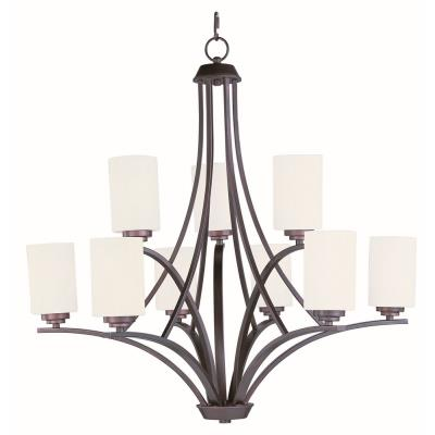 Maxim Lighting 20036SWOI Deven - Nine Light 2-Tier Chandelier