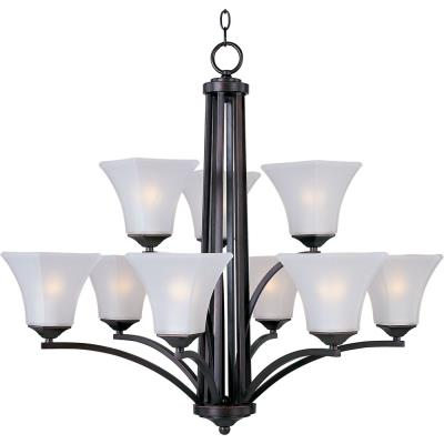 Maxim Lighting 20096 Aurora - Nine Light 2-Tier Chandelier