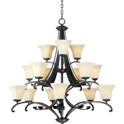 Maxim Lighting 21067 Oak Harbor - Fifteen Light 3-Tier Chandelier