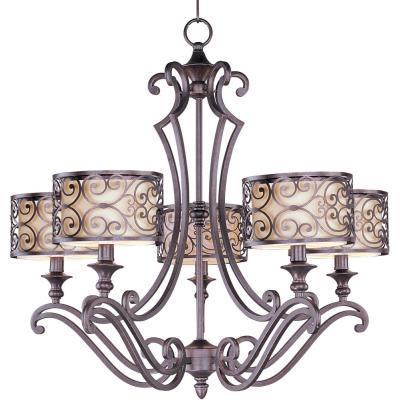 Maxim Lighting 21155WHUB Mondrian - Five Light Chandelier