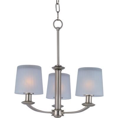 Maxim Lighting 21504FTSN Finesse - Three Light Chandelier