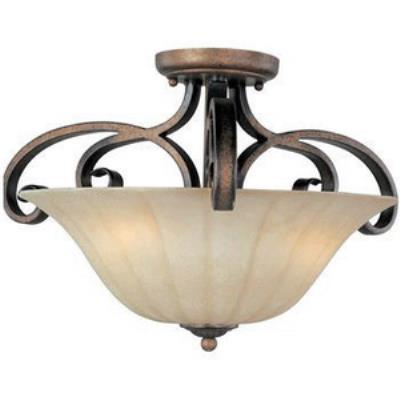 Maxim Lighting 22241 Fremont - Three Light Semi-Flush Mount