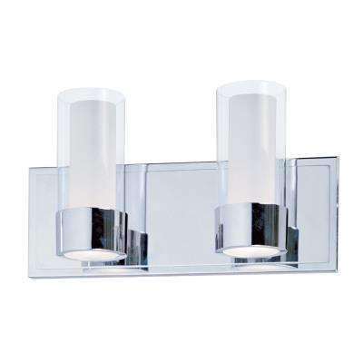 Maxim Lighting 23072CLFTPC Silo - Two Light Bath Vanity