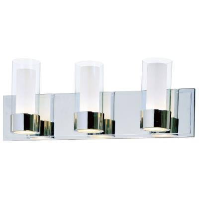 Maxim Lighting 23073CLFTPC Silo - Three Light Bath Vanity