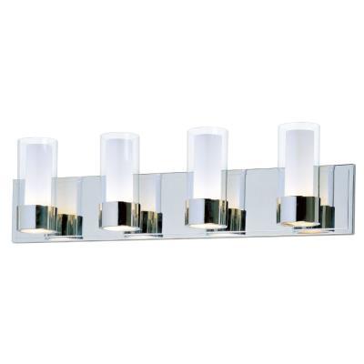 Maxim Lighting 23074CLFTPC Silo - Four Light Bath Vanity