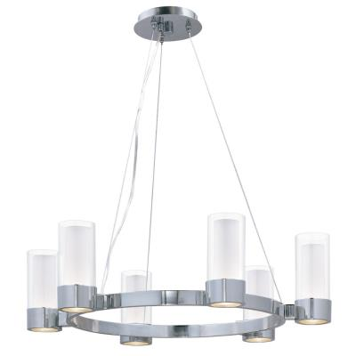 Maxim Lighting 23077CLFTPC Silo - Six Light Chandelier