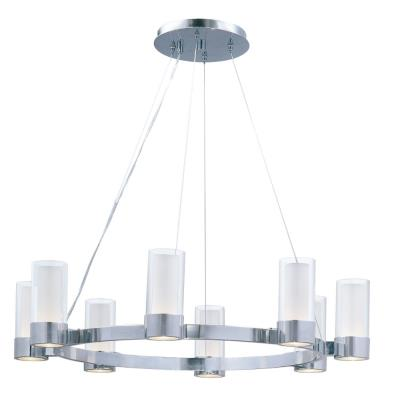 Maxim Lighting 23078CLFTPC Silo - Eight Light Chandelier