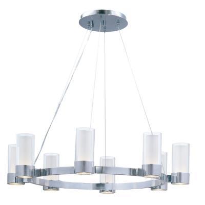Maxim Lighting 23078CLFTPC Silo - Eight Light Chandelier