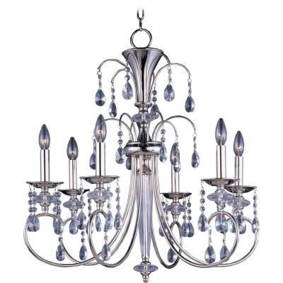 Maxim Lighting 24306CLPN Montgomery - Six Light Chandelier