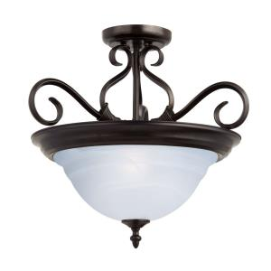Pacific - Three Light Semi-Flush Mount
