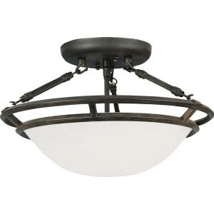 Stratus - Three Light Semi-Flush Mount