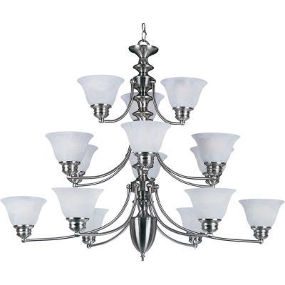 Maxim Lighting 2683 Malaga - Fifteen Light 3-Tier Chandelier