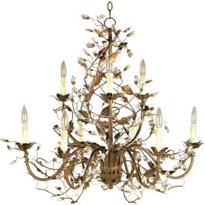 Elegante - Nine Light 2-Tier Chandelier