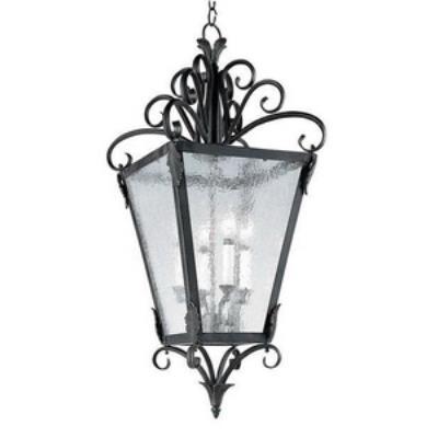 Maxim Lighting 2910CDGB/ASM Cage - Four Light Foyer Pendant