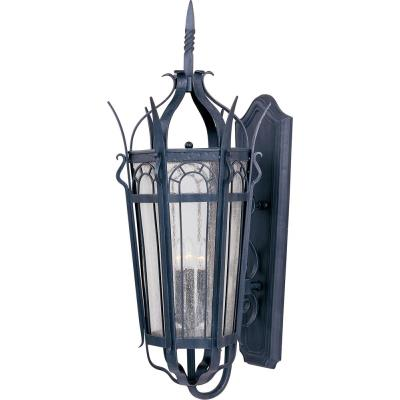 Maxim Lighting 30043CDCF Cathedral - Three Light Outdoor Wall Mount