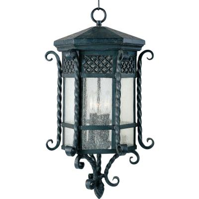 Maxim Lighting 30129CDCF Scottsdale - Three Light Outdoor Hanging Lantern