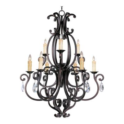 Maxim Lighting 31006CU/CRY083 Richmond - Nine Light 2-Tier Chandelier