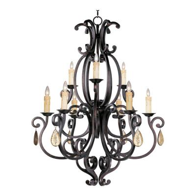 Maxim Lighting 31006CU/CRY094 Richmond - Nine Light 2-Tier Chandelier