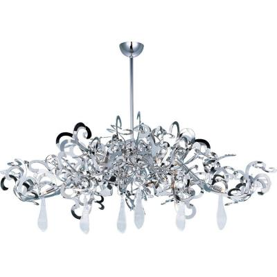 Maxim Lighting 39847PN/CRY152 Tempest - Nine Light Chandelier