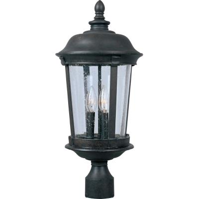 Maxim Lighting 40091CDBZ Dover VX - Three Light Outdoor Pole/Post Mount