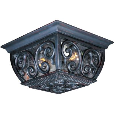 Maxim Lighting 40129CDOB Newbury VX - Two Light Outdoor Flush Mount
