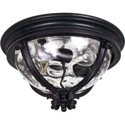 Maxim Lighting 41420WGBK Camden VX - Three Light Outdoor Flush Mount