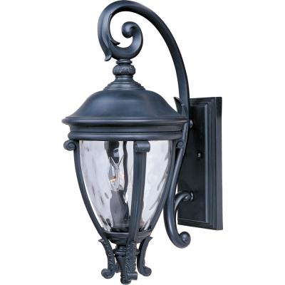 Maxim Lighting 41425WGBK Camden VX - Three Light Outdoor Wall Mount