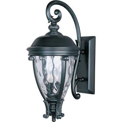 Maxim Lighting 41426WGBK Camden VX - Three Light Outdoor Wall Mount