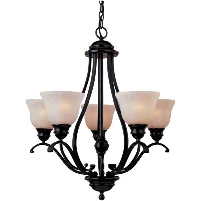 Maxim Lighting 85805 Linda EE - Five Light Chandelier