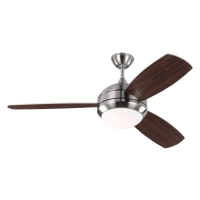 "Monte Carlo Fans 3DISCUSS Discus Trio - 52"" Ceiling Fan with Light Kit"