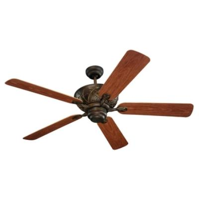 """Monte Carlo Fans 5BY52RB Bayshore -52"""" Outdoor Ceiling Fan"""